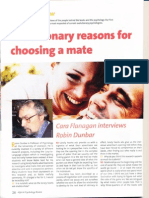 Evolutionary Reasons for Choosing a Mate