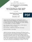 United States Department of Interior v. James W. Elliott, Jr., Trustee, in Re Elkins Energy Corp., Debtor, 761 F.2d 168, 4th Cir. (1985)