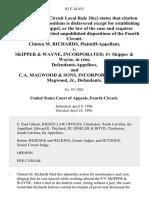 Clinton M. Richards v. Skipper & Wayne, Incorporated F/v Skipper & Wayne, in Rem, and C.A. Magwood & Sons, Incorporated C.A. Magwood, Jr., 83 F.3d 415, 4th Cir. (1996)