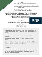Sandra T. Jones v. Les Aspin, Secretary of Defense Charles McCausland General Director or Successor Director of Defense Logistics Agency Defense Logistics Agency, 23 F.3d 401, 4th Cir. (1994)