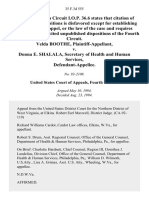 Velda Boothe v. Donna E. Shalala, Secretary of Health and Human Services, 35 F.3d 555, 4th Cir. (1994)