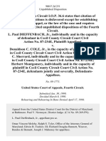 L. Paul Dieffenbach, Jr., Individually and in the Capacity of in Cecil County Circuit Court Civil Action No. 87-234e v. Donaldson C. Cole, Jr., in the Capacity of Presiding Judge in Cecil County Circuit Court Civil Action 87-234e Frank C. Sherrard, Individually and in the Capacity of in Cecil County Circuit Court Civil Action No. 87-234e Herbert Montgomery, Individually and in the Capacity of in Cecil County Circuit Court Civil Action No. 87-234e, Jointly and Severally, 900 F.2d 251, 4th Cir. (1990)