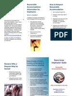 Peace Corps Reasonable Accomodation Brochure