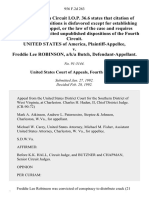 United States v. Freddie Lee Robinson, A/K/A Butch, 956 F.2d 263, 4th Cir. (1992)