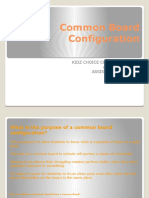 common board configuration pptm