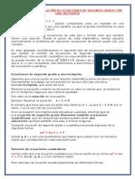 CLASIFICACIÓN Y SOLUCIÓN DE ECUACIONES DE SEGUNDO GRADO CON UNA INCÓGNITA.docx