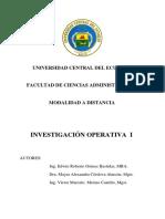 Unidad Didáctica de Investigación Operativa 1