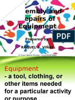 Assembly and Repairs of Equipment