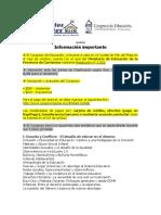 Congreso de Educación - Mar Del Plata 2016 - Informacion Importante