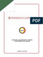 G-De-01 Guía Elaboración y Control de Documentos SIGEPRE