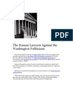 The Roman Lawyers Against the Washington Politicians