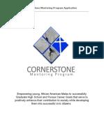 2016-17 cornerstone mentoring application