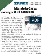 12-08-16 Confía Adrián de la Garza en llegar a un consenso