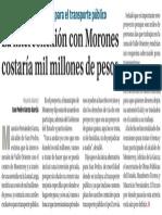 12-08-16 La interconexión con Morones costaría mil millones de pesos