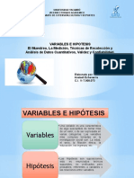 Variables e Hipotesis