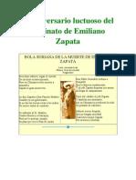 90 Aniversario Luctuoso Del Asesinato de Emiliano Zapata