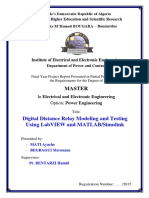 Digital Distance Relay Modeling and Testing Using LabVIEW and MATLAB/Simulink