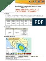 Movimiento Sismico Afecta a La Prov. Caylloma – Arequipa