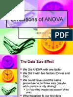 Summary and Limitations of ANOVA