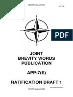 Brevity Words NATO