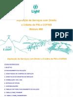 SAP Manual Para Solução de Credito de Pis e Cofins LIGHT