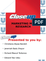 Unilever-closeup Research Methodology