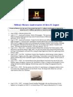 Military History Anniversaries 0816 Thru 083115