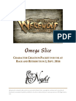 Minds Eye Theatre Werewolf the Apocalypse Omega Slice Playtest Rules (9567539)