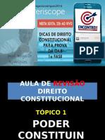 Aula de Revisão Direito Constitucional