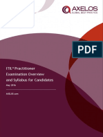 ITIL Practitioner Qualification Syllabus