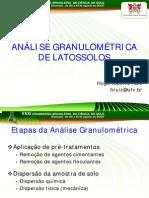 ANÁLISE GRANULOMÉTRICA DE LATOSSOLOS