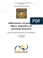 Adherencia a La Práctica Deportiva en El Adulto Mayor