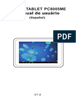 Spanish Manual for Tablet Titan 8005me