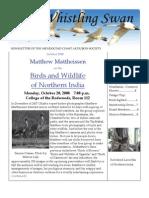 October 2008 Whistling Swan Newsletter ~ Mendocino Coast Audubon Society