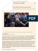 Blow for Trump as top aide faces $12.7m Ukraine payments probe — FT