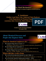 Why Fluid Mechanics, Importance of Fluid Mechanics to Chemical Engineers, 2012