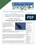 November 2008 Whistling Swan Newsletter ~ Mendocino Coast Audubon Society