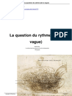 La Question Du Rythme de La Vague