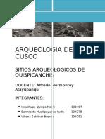 Cronologia Para El Valle Del Cusco