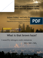 Spatial Variability in Alkyl Nitrates in the Los Angeles Basin and San Joaquin Valley