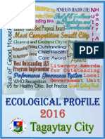 Ecological Profile of Tagaytay 2016