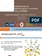 Comparison of the San Joaquin Valley and Los Angeles Basin HOx Systems