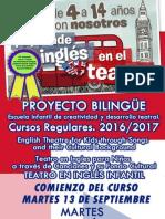 Inscripción Taller Teatro Infantil en Ingles 2016-017-Con Ficha de Inscripcion Doc