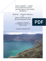Spanish English Water Resource Glossary