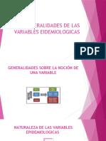 Generalidades de Las Variables Eidemiologicas