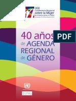 40 Años de Agenda de Genero