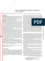 Rice Consumptions and Risk of Cardiovascular Disease - Results From a Pooled Analysis of 3 Us Cohorts