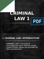 Criminal Law 1