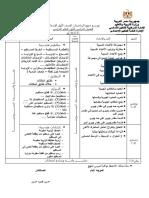 توزيع منهج الاعدادى 2017