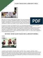 Ritmos Musicales y Baile de La Region Costa